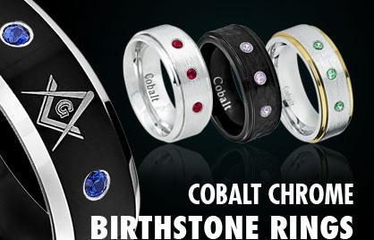 Cobalt Birthstone Rings