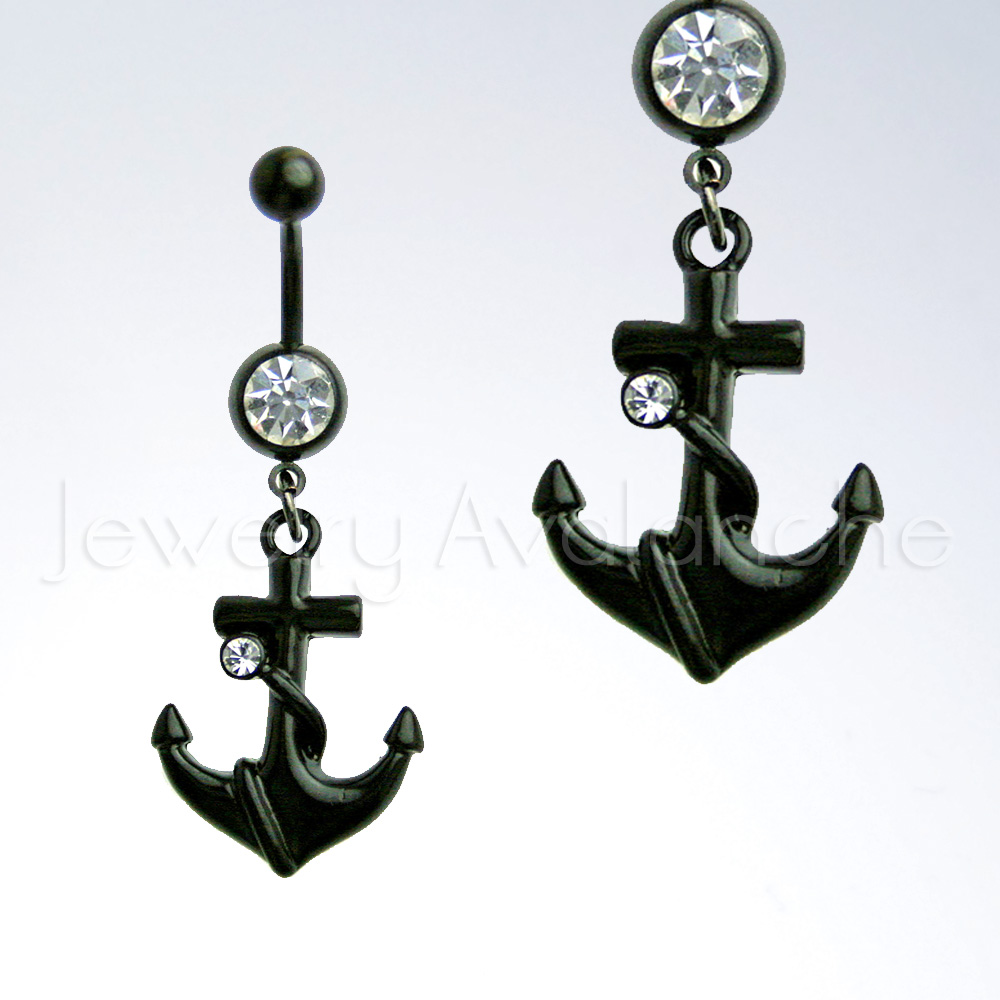 Belly Ring Navel Piercing Jewelry Anchor Belly Ring 14g Banana