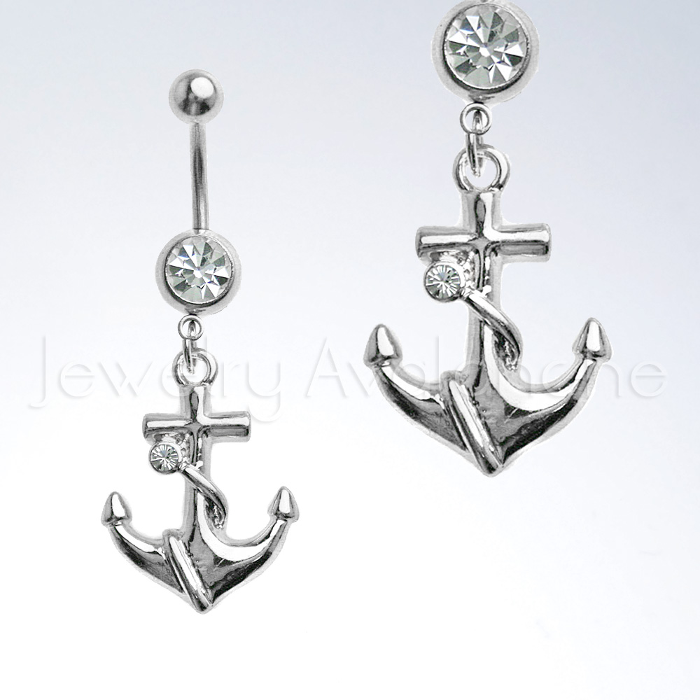 belly ring navel piercing jewelry anchor belly ring 14g