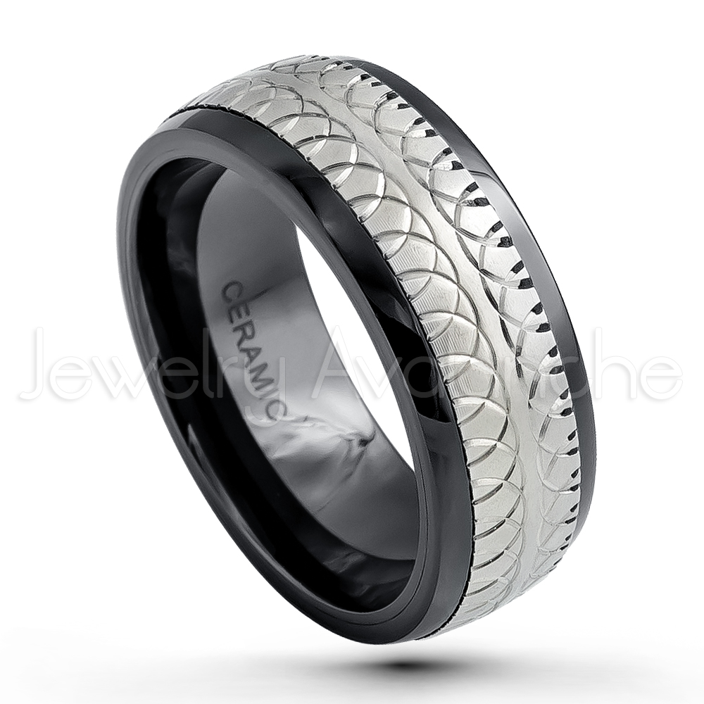 rings for amazon in ceramic jewellery peora grey ring dp men