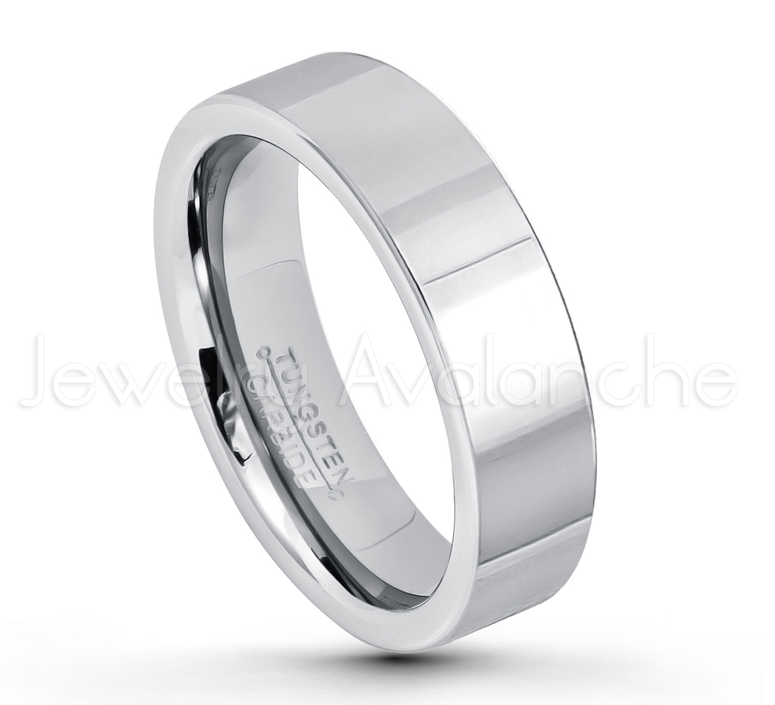 Tungston Carbide Wedding Rings.6mm Pipe Cut Tungsten Ring Comfort Fit Tungsten Carbide Wedding Ring Polished Finish Tungsten Ring Bride And Groom S Ring Tn020pl