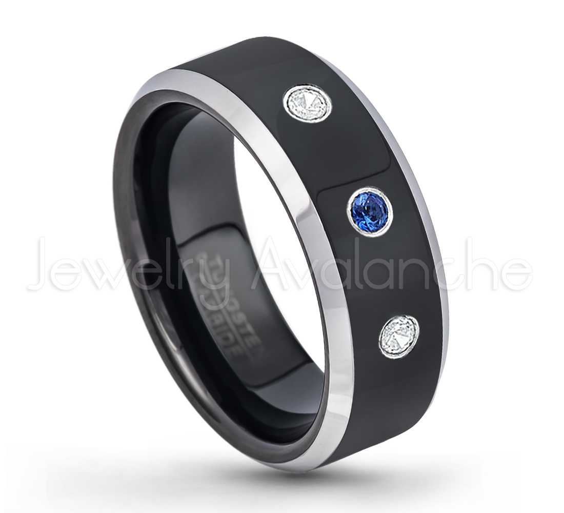wedding band loading tungsten beveled zoom rings carbide ring white
