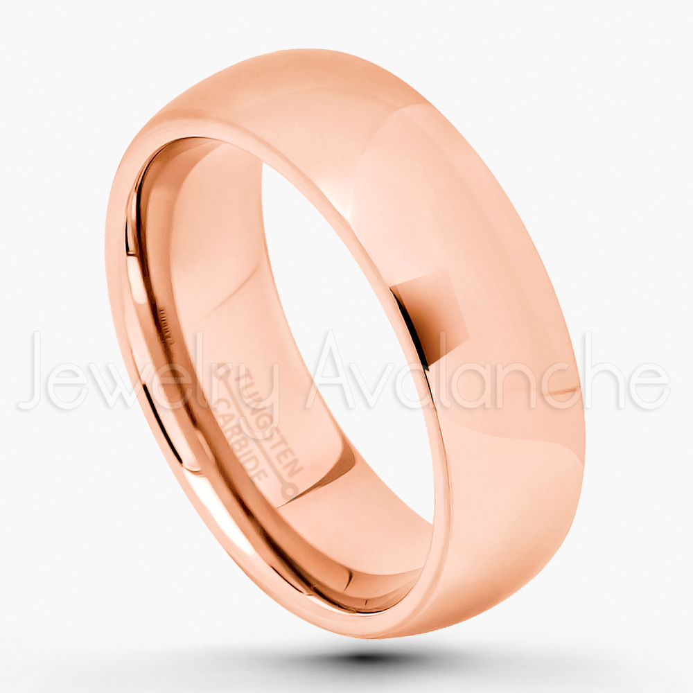 Jewelry Avalanche 7mm Comfort Fit Tungsten Wedding Band Tungsten Anniversary Ring Polished Finish Classic Dome Tungsten Carbide Ring Tungsten Ring