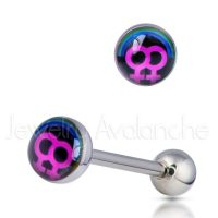 "14G Tongue Ring - Dirty / Nasty word ""FEMALE-FEMALE"" Tongue Ring - 316L Surgical Steel Screw-on Tongue Rings TR2024"